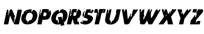 Red Undead Italic Font LOWERCASE