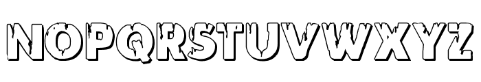 Red Undead Shadow Font LOWERCASE