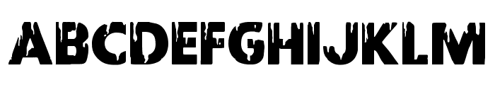 Red Undead Shift Font UPPERCASE