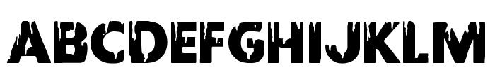 Red Undead Shift Font LOWERCASE