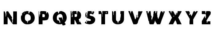 Red Undead Title Font UPPERCASE
