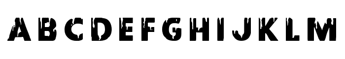 Red Undead Title Font LOWERCASE