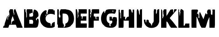 Red Undead Font LOWERCASE