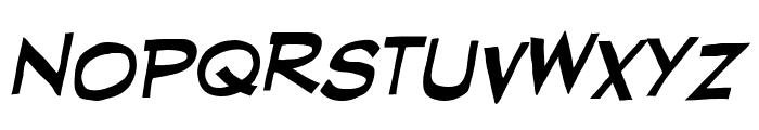 RedStateBlueState BB Italic Font UPPERCASE
