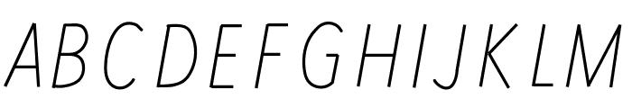 RedWood Oblique Font UPPERCASE