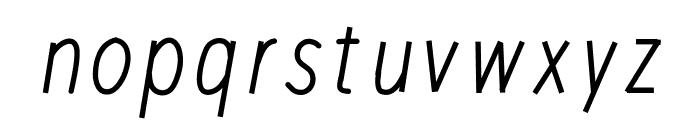 RedWood Thick Oblique Font LOWERCASE
