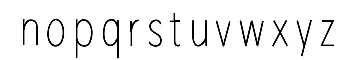 RedWood Font LOWERCASE