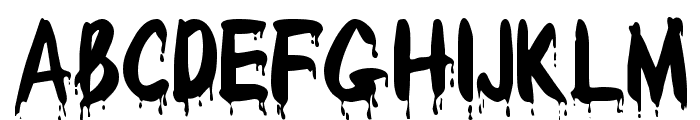 Redcap Bloodthirsty Font UPPERCASE