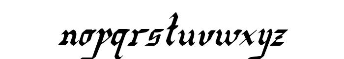 Redcoat Condensed Italic Font LOWERCASE