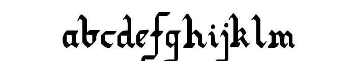 Redcoat Condensed Font LOWERCASE