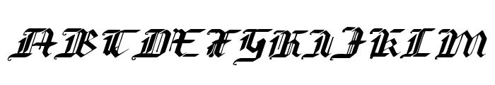 Redcoat Expanded Italic Font UPPERCASE