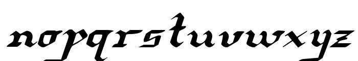 Redcoat Expanded Italic Font LOWERCASE