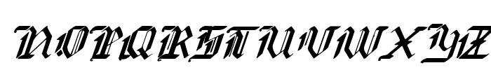 Redcoat Italic Font UPPERCASE