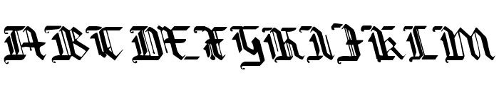 Redcoat Leftalic Font UPPERCASE