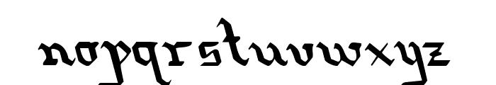 Redcoat Leftalic Font LOWERCASE