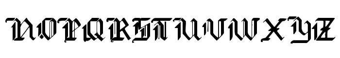 Redcoat Font UPPERCASE
