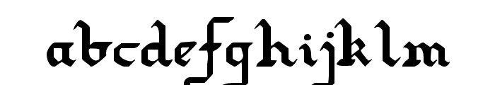 Redcoat Font LOWERCASE