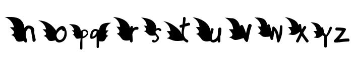 Redd or dedd Font LOWERCASE