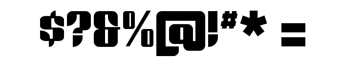 Redford BV Font OTHER CHARS