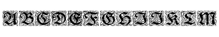 Rediviva Zierbuchstaben Font UPPERCASE