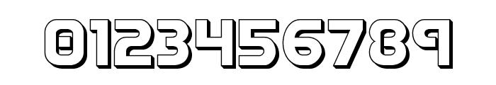 Redline 3D Font OTHER CHARS