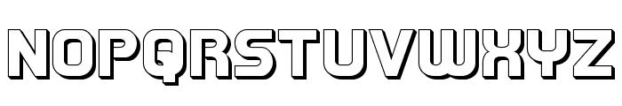 Redline 3D Font UPPERCASE