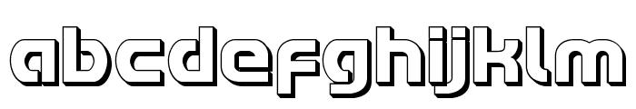 Redline 3D Font LOWERCASE