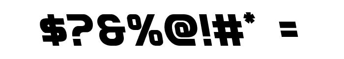 Redline Leftalic Font OTHER CHARS