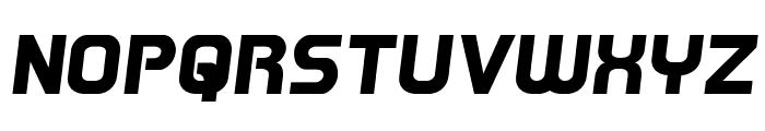 Redline Semi-Italic Font UPPERCASE
