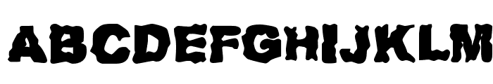 Redneck Zombies Font UPPERCASE