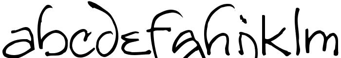 Redstar Font LOWERCASE