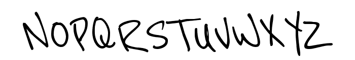 Reenie Beanie Font UPPERCASE