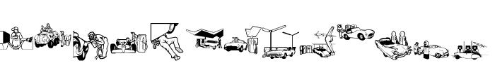RefuelStation Font LOWERCASE