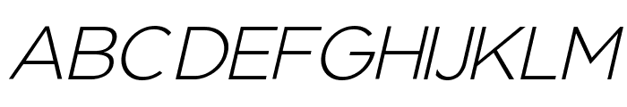 Regencie Light Alt Oblique Font UPPERCASE
