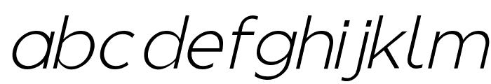 Regencie Light Alt Oblique Font LOWERCASE