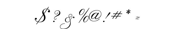 RegencyScriptFLF Font OTHER CHARS