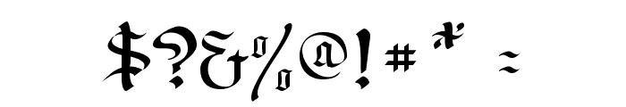 RegentUNZ Font OTHER CHARS
