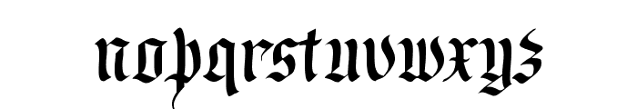 RegentUNZ Font LOWERCASE
