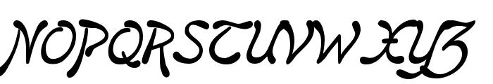 Regina Kursiv Italic Font UPPERCASE