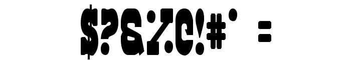 Regulators Condensed Font OTHER CHARS