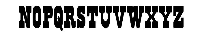 Regulators Condensed Font LOWERCASE