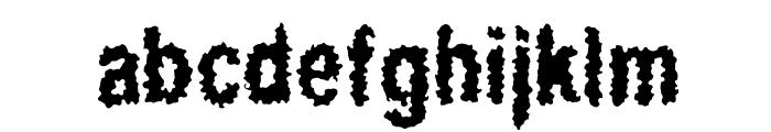 Regurgitation Font LOWERCASE