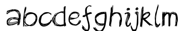 Rekles Font LOWERCASE