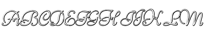 Reliant Beveled Font UPPERCASE