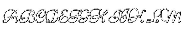 ReliantBeveled Font UPPERCASE