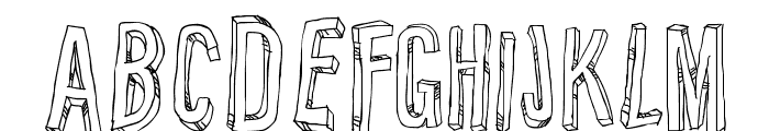 Relief BD Font UPPERCASE
