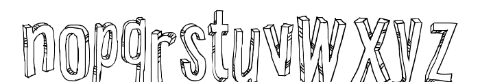 Relief BD Font LOWERCASE