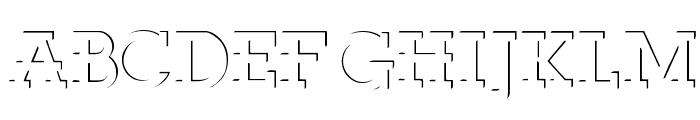 ReliefDeco Font UPPERCASE
