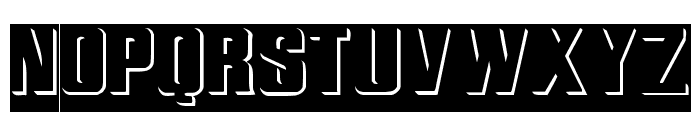 ReliefInReverse Regular Font UPPERCASE