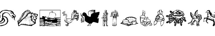 ReligiousSymbols Font UPPERCASE